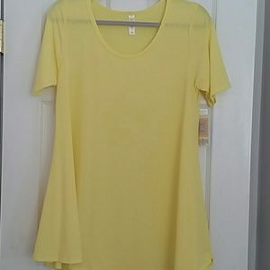 LulaRoe Perfect T Solid yellow